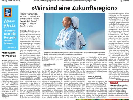 Fach-Beitrag im Wochenspiegel Wittlich