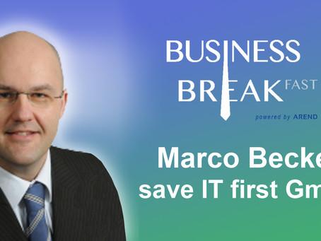 Vorstellung des dritten Sprechers auf dem Business Breakfast Trier: Marco Becker