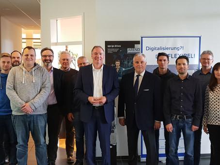 Bundestagsabgeordneter Andreas Steier zu Besuch bei Arend