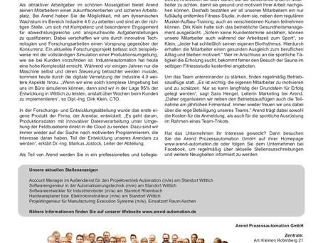 """Artikel in der Sonderausgabe """"TOP Arbeitgeber"""""""