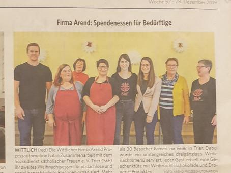 Spendenprojekt in der regionalen Presse