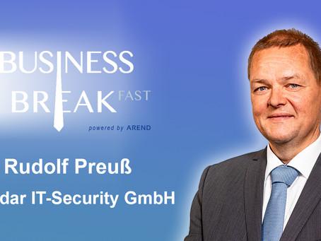 Vorstellung des vierten Sprechers auf dem Business Breakfast Trier: Rudolf Preuß