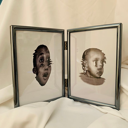RECOGNITION #7 & 8 (2- 5x7in) framed