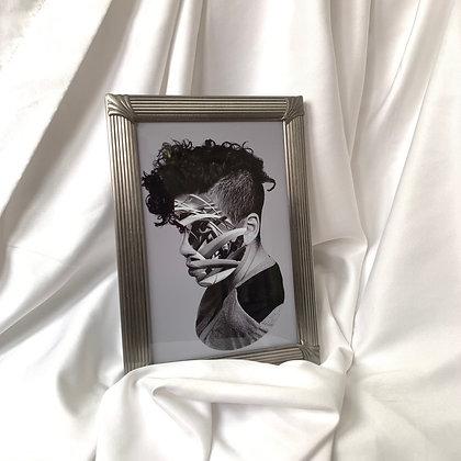 #2 (4x6in) framed