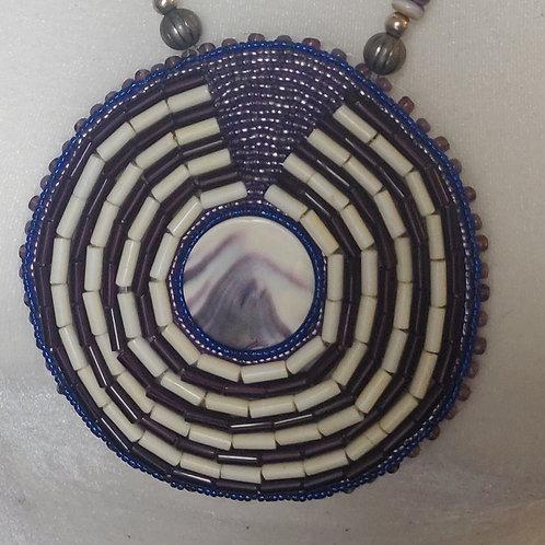 Wampum beaded medallion