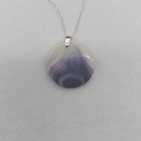"""Round pendant on sterling chain 18"""""""