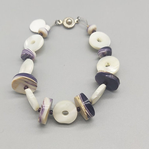 Wampum and mother of Pearl bracelet