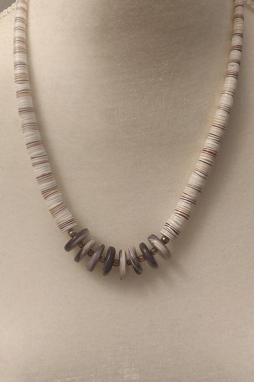 Wampum rondelle necklace