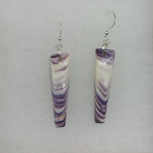 Triangle wampum stripe earrings