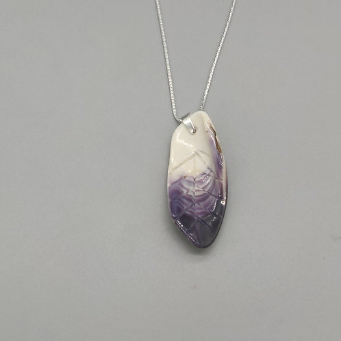"""Wampum Feather on 24"""" chain"""