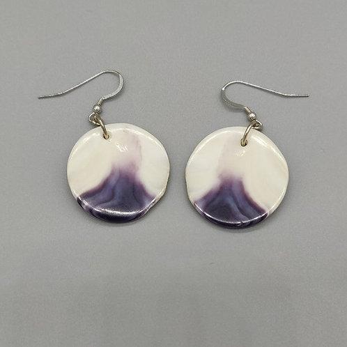 Medium Wampum disk earrings