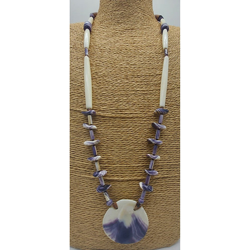 Wampum disk Necklace