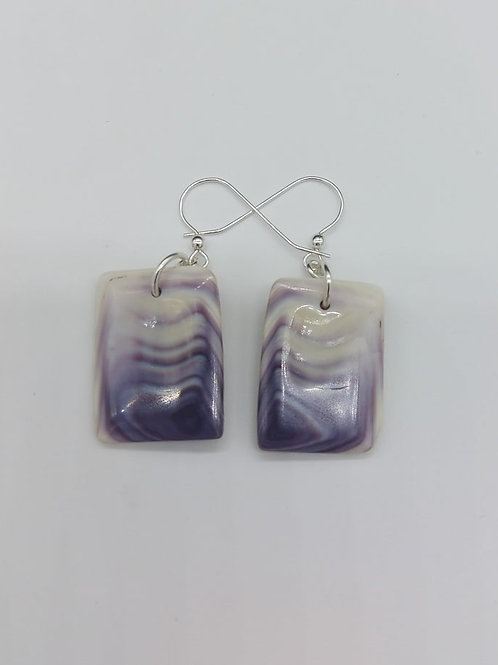 rectangle faceted earrings