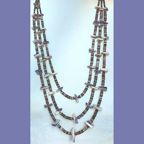 Graduated 3 strand necklace