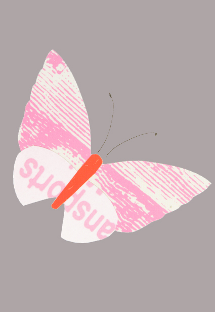 Pastell Schmetterling