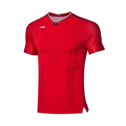 Li-Ning Badminton Shirts Premium AAYP277-2 Red MEN'S