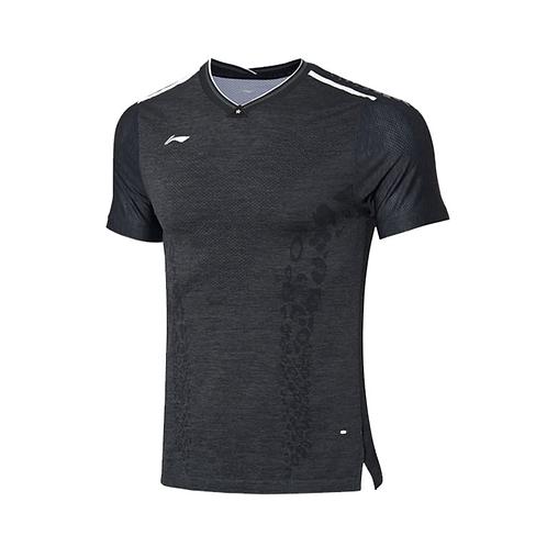 Li-Ning Badminton Shirts Premium AAYP277-4 Grey MEN'S