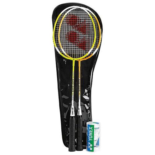 Yonex 2 Racquet Badminton Set With Two Shuttlecocks GR-505(set)