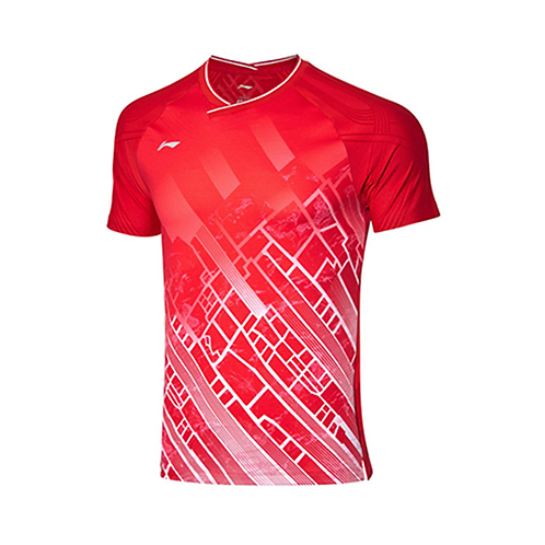Li-Ning Badminton Shirts Premium AAYP331-3 Red MEN'S