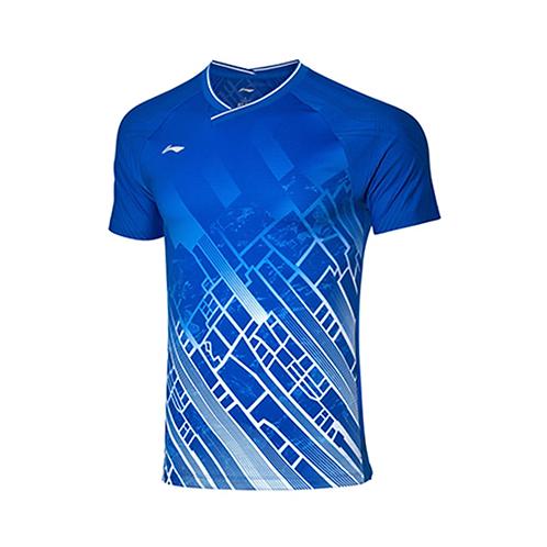 Li-Ning Badminton Shirts Premium AAYP331-1 Blue MEN'S