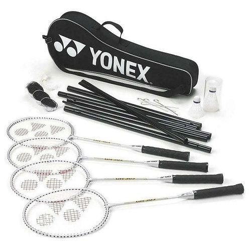 Yonex 4 Racquet Badminton Set With Net & Two Shuttlecocks GR-303S(set)