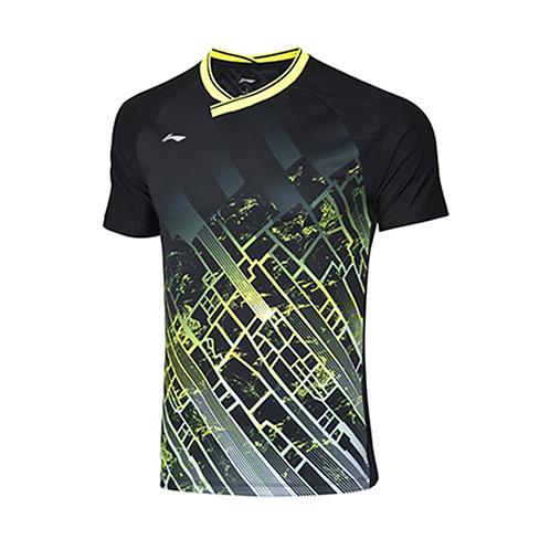 Li-Ning Badminton Shirts Premium AAYP331-2 Black MEN'S