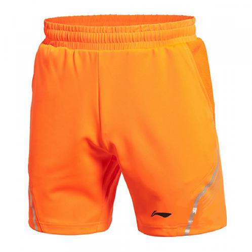 Li-Ning Badminton/ Tennis Men's Short Bright Orange AAPK075-3