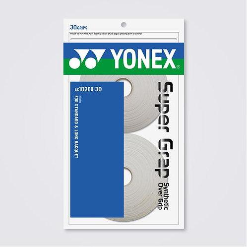 Yonex Super Grap AC102EX-30(30 Wraps) White/ Yellow/ Black