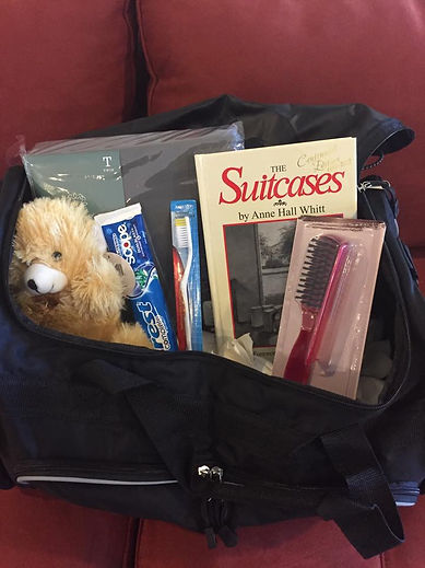 Items that go in the suitcases and duffel bags