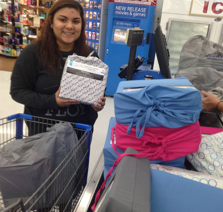 Ashley purchasing items