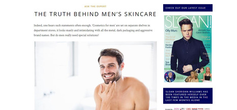 Men's Skicare Editorial NUFACE London article written by Gorgeous Work Consulting Marketing and PR Services