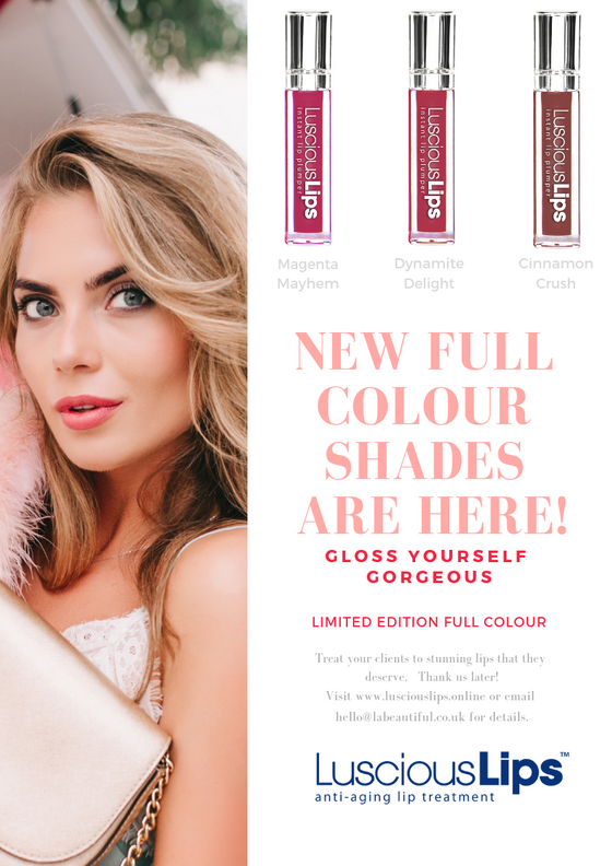 Winter Proof Your Lips with New 'Full Colour' Glosses from Luscious Lips® NOW IN STOCK