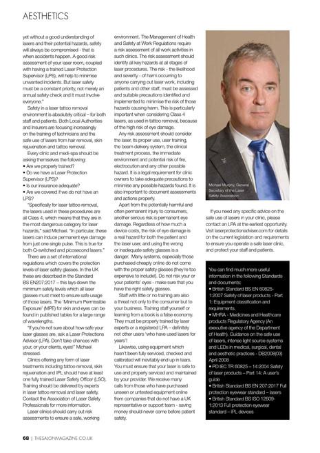 LA Erase Laser Safety Article in The Salon Magazine