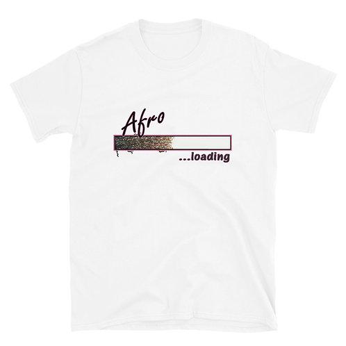 Afro Loading (Pink) Short-Sleeve Unisex T-Shirt