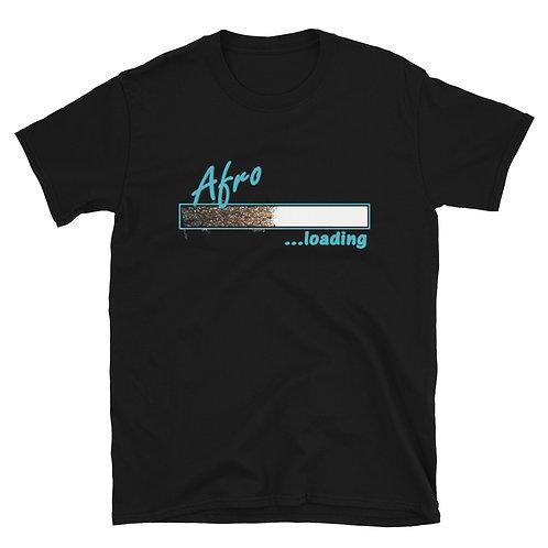 Afro Loading (Blue) Short-Sleeve Unisex T-Shirt