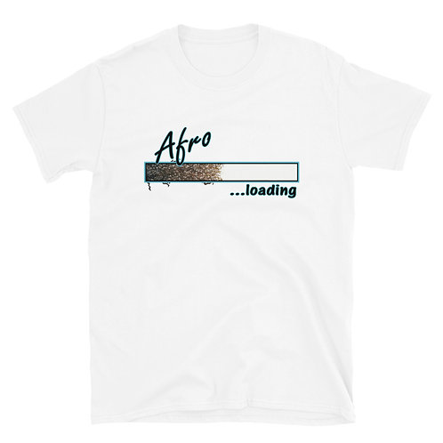 Afro Loading (Blue) Short-Sleeve Unisex T-Shirt