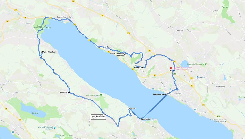 Mit dem E-Bike entspannt um den Überlinger See