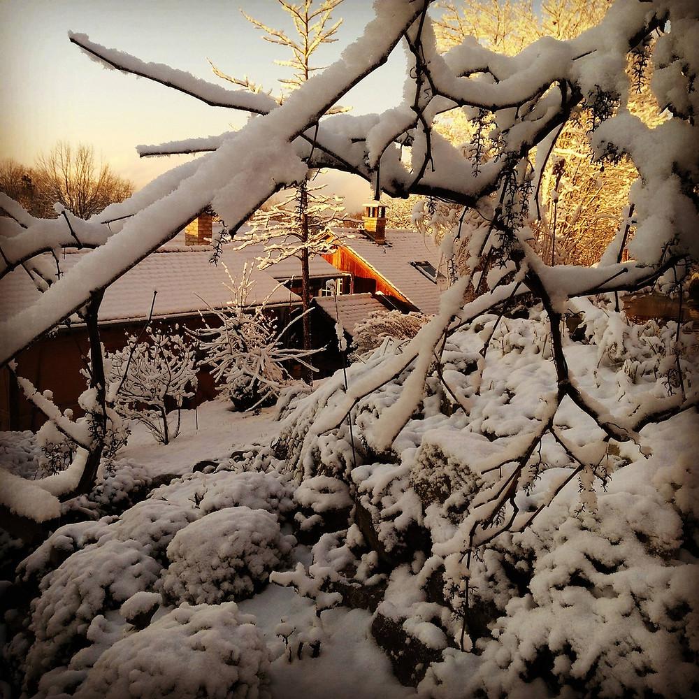 Winter in Klaushausen in Überlignen am Bodensee