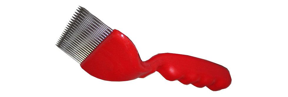 Odviečkovacia vidlička 1  - plast / nerez červená