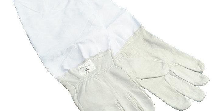 Rukavice textilné biele