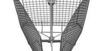 Kôš do medometu - tangeciálny, nerezový( 3 rámiky )