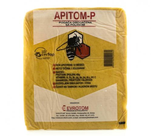 Stimulačno-liečivé cesto pre včely APITOM-P®  s peľom