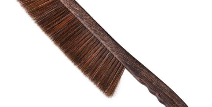 Metlička 2-radová plast, drevená rúčka