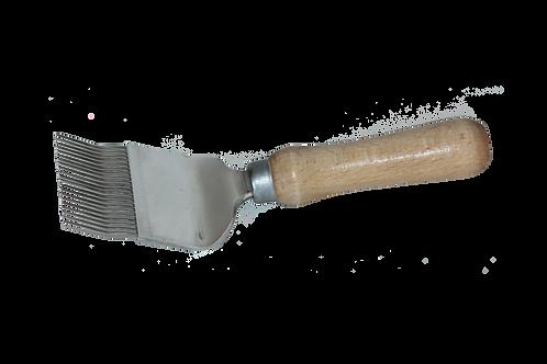 Odvíčkovací vidlička široká nerezová, lomená (21 jehel)