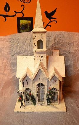 Weihnachsthaus mit Leds Holz handgemacht 50cm