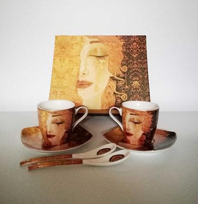 Gustav Klimt Espressotassen Freyas Tränen 6teilig Porzellan