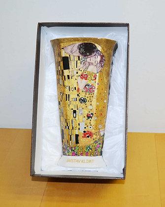 Klimt Vase Der Kuss Porzellan beige XL