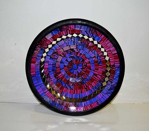 Teller in Mosaiktechnik Dekoteller Lilaton 27cm