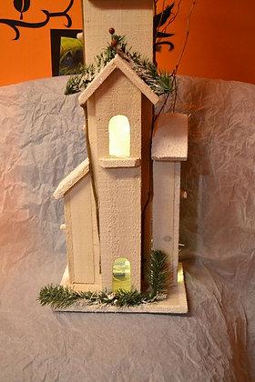Weihnachsthaus mit Leds Holz handgemacht RIESIG