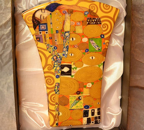 """Gustav Klimt Vase """"Erfüllung"""" Porzellan Geschenkbox"""